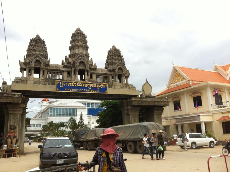 カンボジア国境ポイペトへの入口