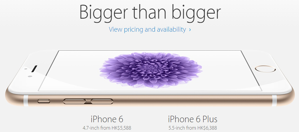 iPhone6_6plus_Hongkong_price