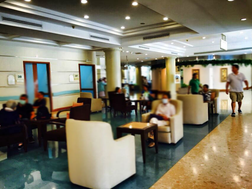 サミティベート病院・バンコクの待合室