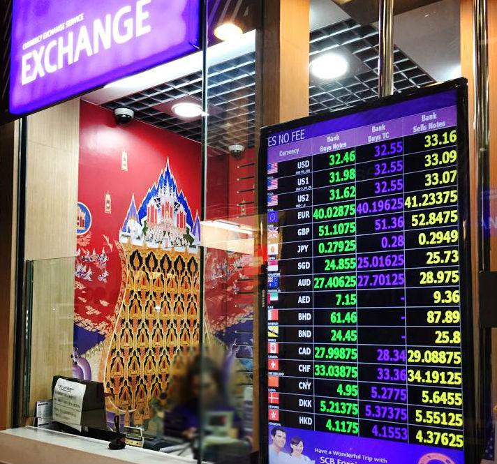バンコク都内の一般的な両替店