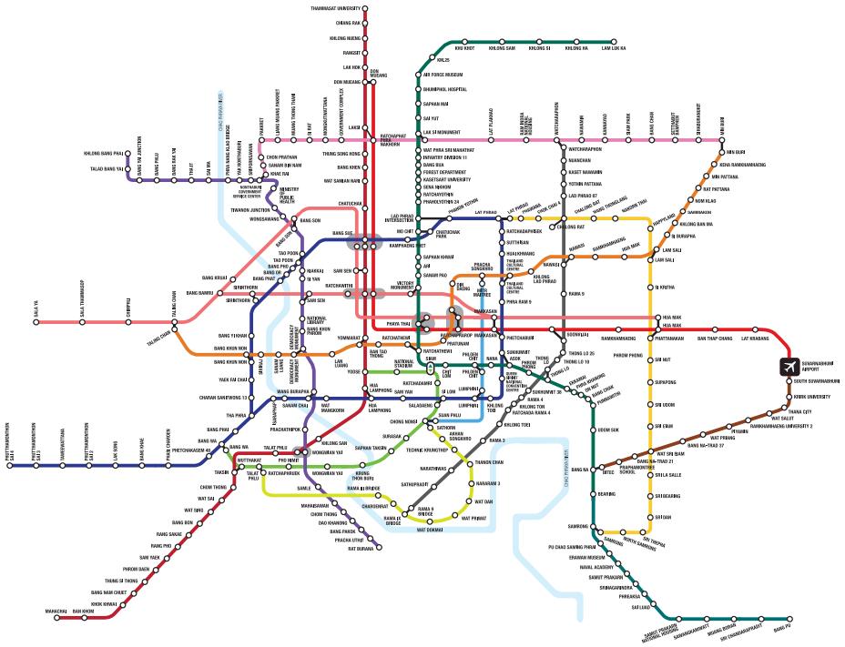 バンコク都市鉄道最新ルート