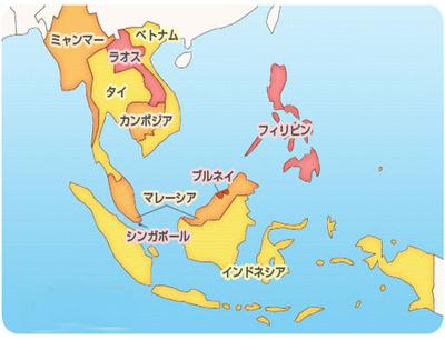 ASEAN地図 フリー素材