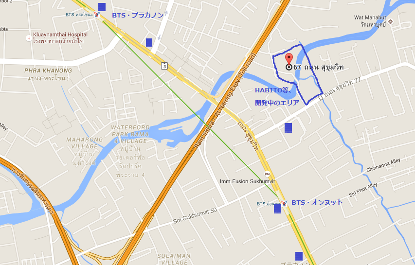 プラカノン・オンヌットのショッピングモール地図