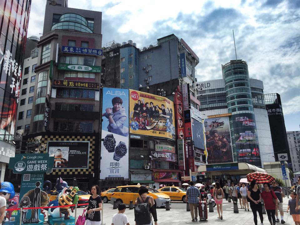台北の繁華街西門