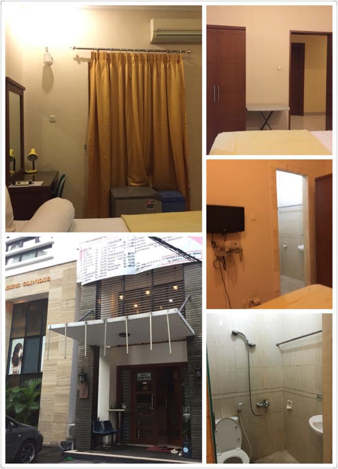 ジャカルタの美容室併設コス室内