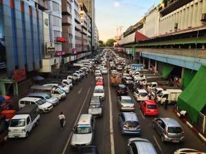 Yangon trafic jam