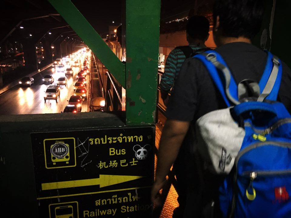 Don Muang Taxi bridge